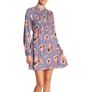 Multi colored smocked mini dress